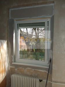 XV.Tégla ablakcsere fal visszajavítással