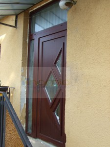 S4 panelos ajtó+oldal-felülvilágító MAHAGÓNI szín